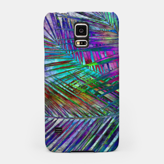 Multicolor Palm Leaves Samsung Case imagen en miniatura