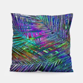 Multicolor Palm Leaves Pillow imagen en miniatura