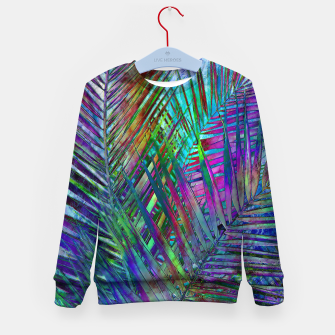 Multicolor Palm Leaves Kid's Sweater imagen en miniatura
