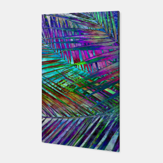 Multicolor Palm Leaves Canvas imagen en miniatura