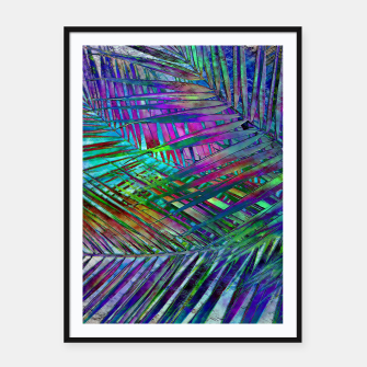 Multicolor Palm Leaves Framed poster imagen en miniatura