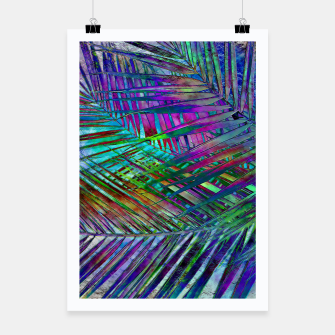Multicolor Palm Leaves Poster imagen en miniatura