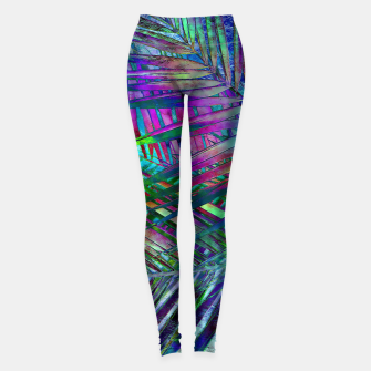 Multicolor Palm Leaves Leggings imagen en miniatura