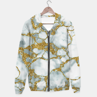 Painted Marble Texture with Gold Hoodie imagen en miniatura