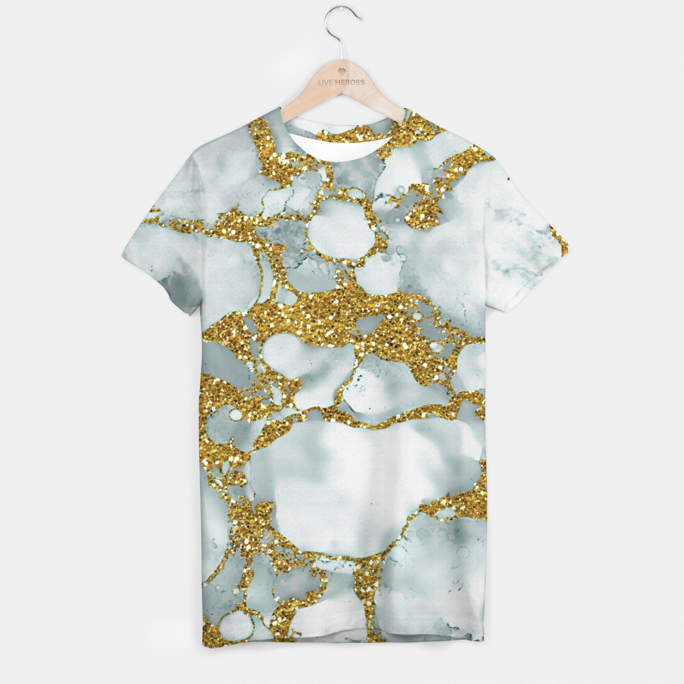 Imagen de Painted Marble Texture with Gold T-shirt - Live Heroes