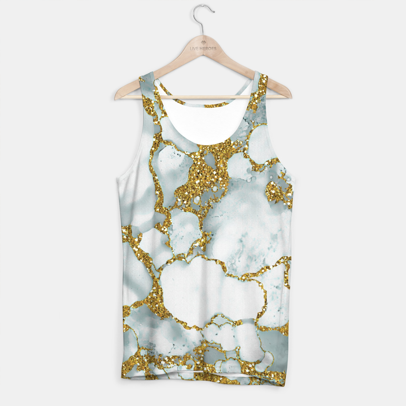 Imagen de Painted Marble Texture with Gold Tank Top - Live Heroes