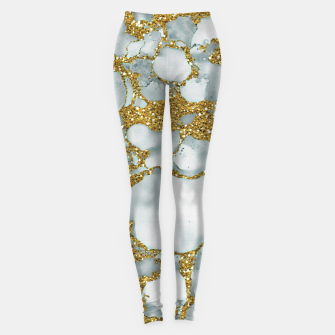 Painted Marble Texture with Gold Leggings imagen en miniatura