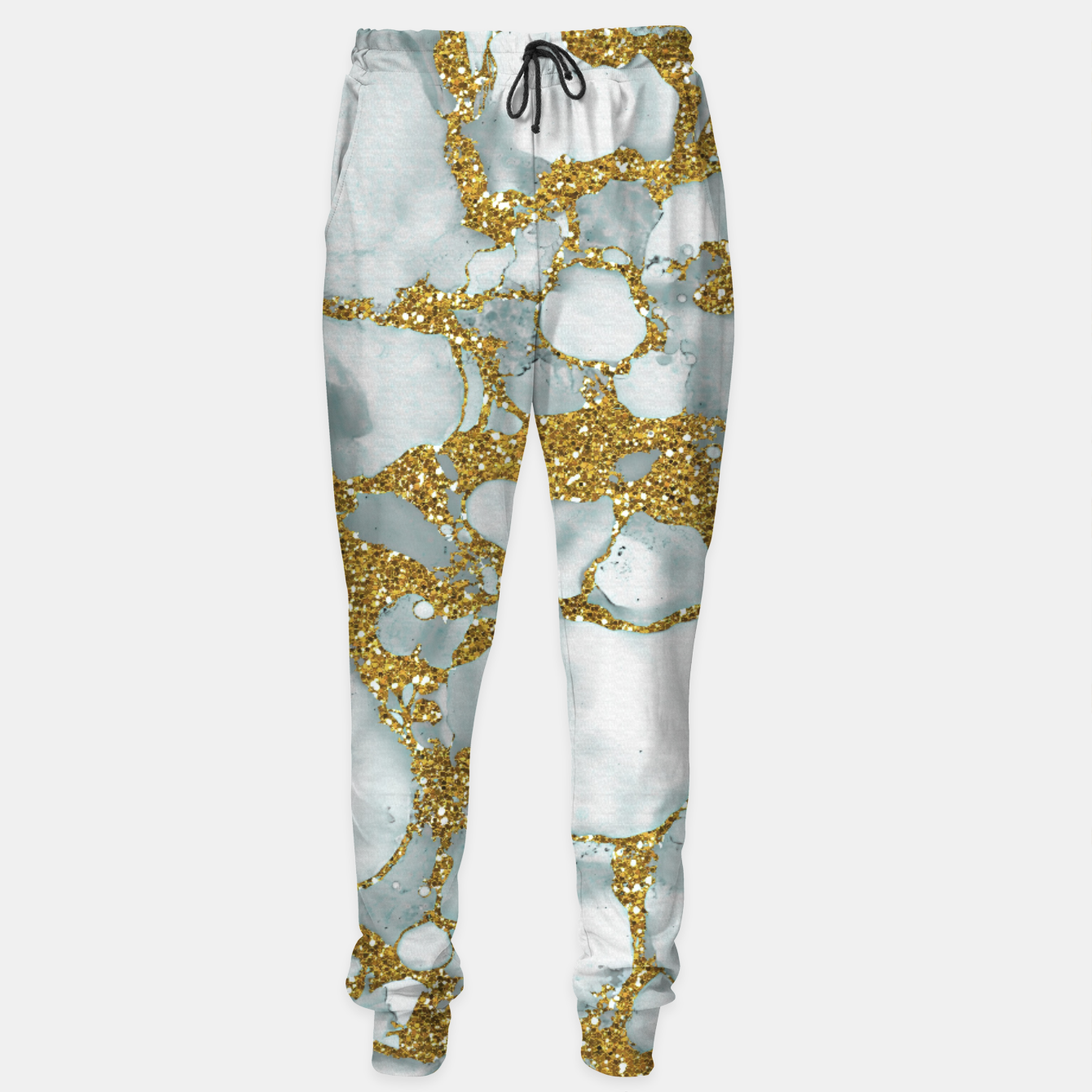 Imagen de Painted Marble Texture with Gold Sweatpants - Live Heroes