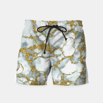 Imagen en miniatura de Painted Marble Texture with Gold Swim Shorts, Live Heroes