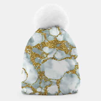Painted Marble Texture with Gold Beanie imagen en miniatura