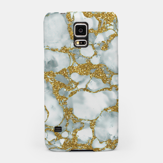 Painted Marble Texture with Gold Samsung Case imagen en miniatura