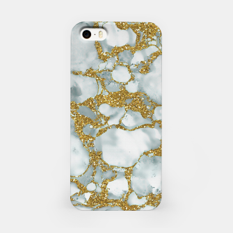 Imagen en miniatura de Painted Marble Texture with Gold iPhone Case, Live Heroes