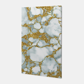Painted Marble Texture with Gold Canvas imagen en miniatura