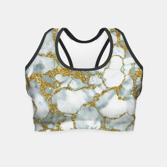 Painted Marble Texture with Gold Crop Top imagen en miniatura