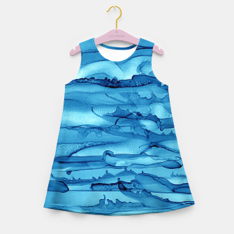 Waves Girl's Summer Dress imagen en miniatura