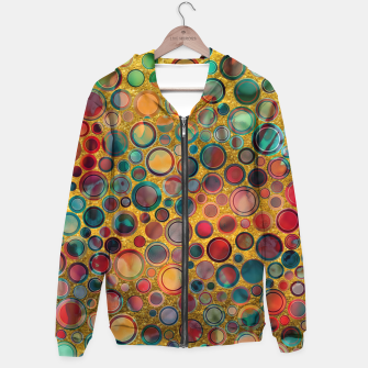 Dots on Painted and Gold Background Hoodie imagen en miniatura