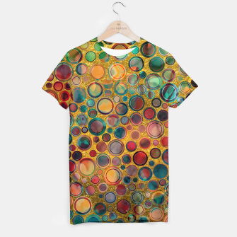 Imagen en miniatura de Dots on Painted and Gold Background T-shirt, Live Heroes