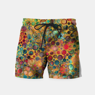 Imagen en miniatura de Dots on Painted and Gold Background Swim Shorts, Live Heroes