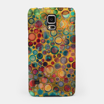 Dots on Painted and Gold Background Samsung Case imagen en miniatura