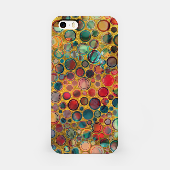 Imagen en miniatura de Dots on Painted and Gold Background iPhone Case, Live Heroes