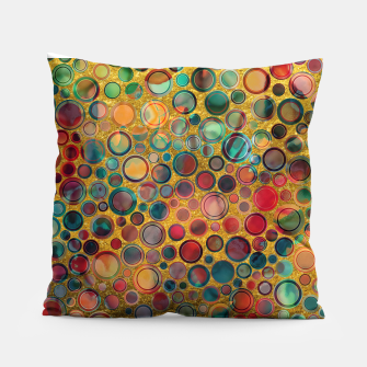 Dots on Painted and Gold Background Pillow imagen en miniatura