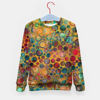 Imagen en miniatura de Dots on Painted and Gold Background Kid's Sweater, Live Heroes