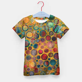 Imagen en miniatura de Dots on Painted and Gold Background Kid's T-shirt, Live Heroes