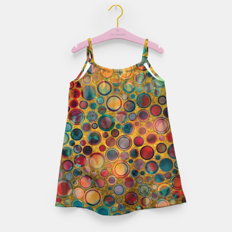 Imagen en miniatura de Dots on Painted and Gold Background Girl's Dress, Live Heroes