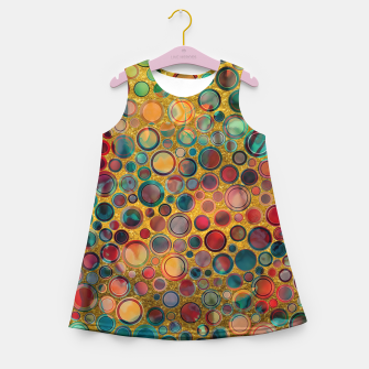Dots on Painted and Gold Background Girl's Summer Dress imagen en miniatura