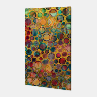 Dots on Painted and Gold Background Canvas imagen en miniatura