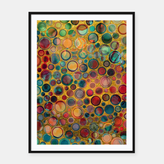 Dots on Painted and Gold Background Framed poster imagen en miniatura