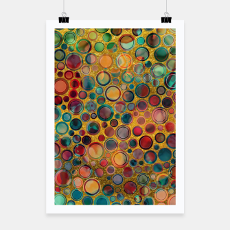 Dots on Painted and Gold Background Poster imagen en miniatura