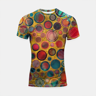 Imagen en miniatura de Dots on Painted and Gold Background Shortsleeve Rashguard, Live Heroes