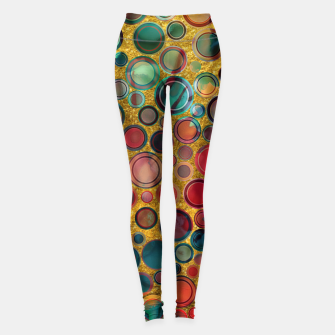 Dots on Painted and Gold Background Leggings imagen en miniatura
