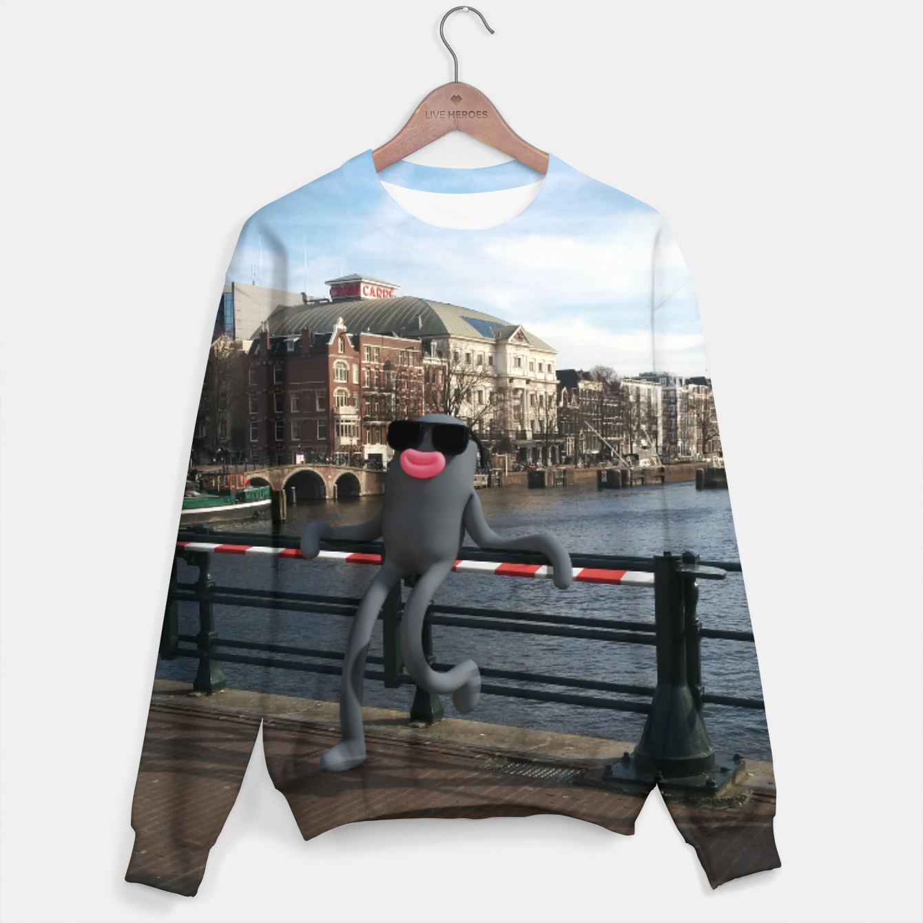 Image of Lars on the Bridge Cotton sweater - Live Heroes