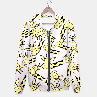 Miniatur Giraffe world Cotton zip up hoodie, Live Heroes