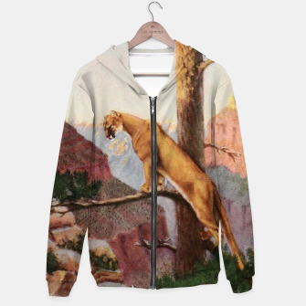Miniatur Pitman, Theodore B. (1892-1956) - A book-lover's holidays in the open 1916 - On the brink of the Grand Canyon Cotton zip up hoodie, Live Heroes