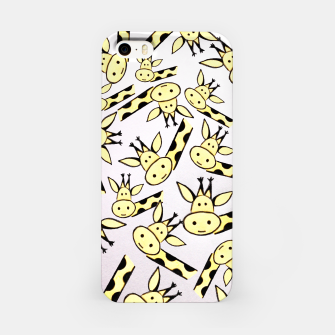 Miniatur Giraffe world iPhone Case, Live Heroes