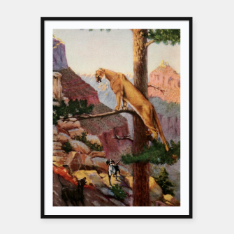 Miniatur Pitman, Theodore B. (1892-1956) - A book-lover's holidays in the open 1916 - On the brink of the Grand Canyon Framed poster, Live Heroes