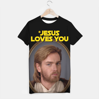 Thumbnail image of Jesus Loves You and Star Wars Koszulka, Live Heroes