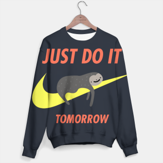 Miniature de image de Just do it tomorrow Cotton sweater, Live Heroes