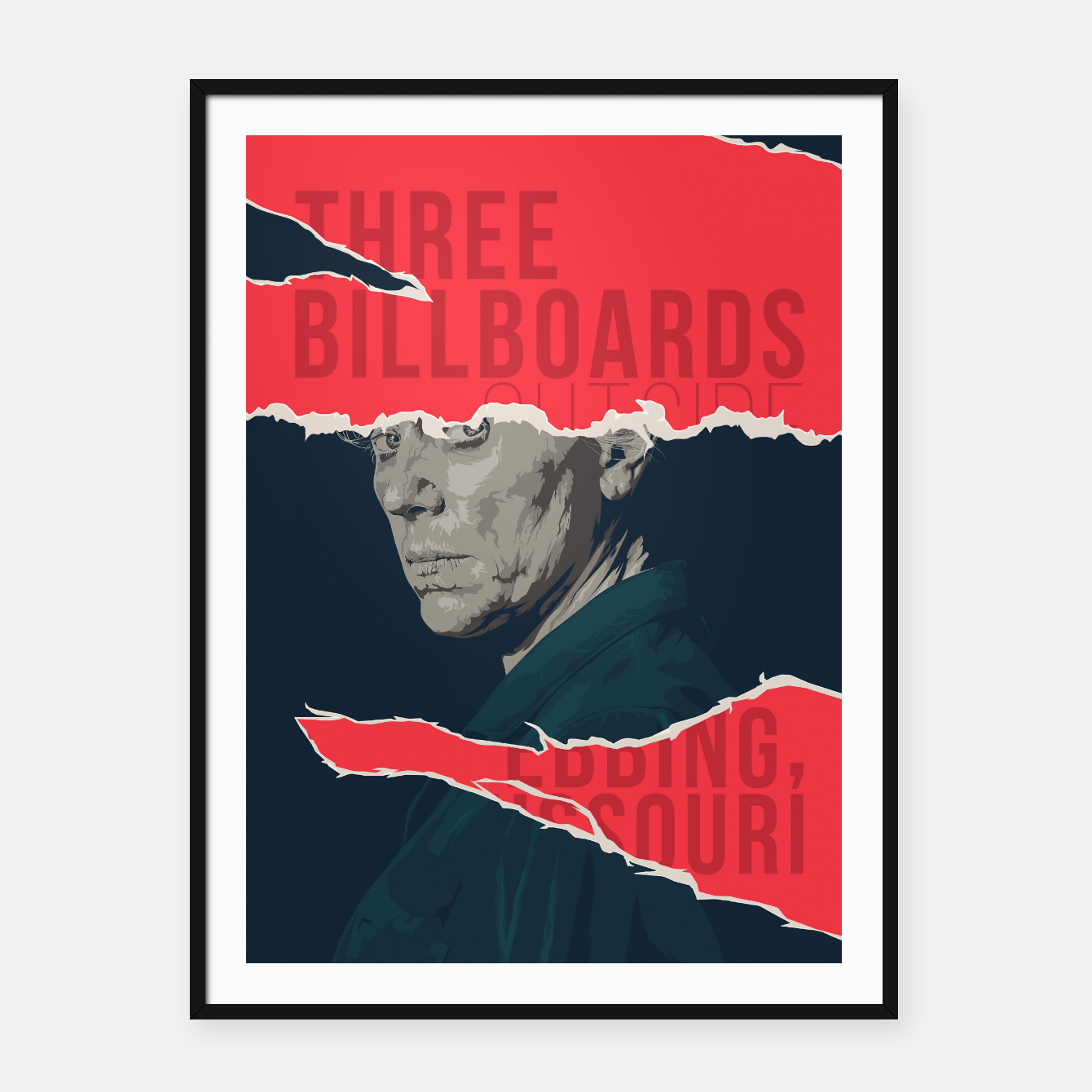 Image of Three Billboards Outside Ebbing, Missouri Framed poster - Live Heroes
