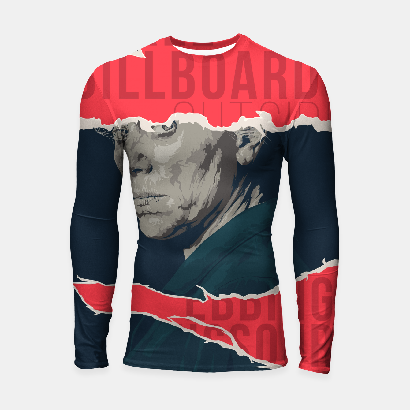 Image of Three Billboards Outside Ebbing, Missouri Longsleeve rashguard  - Live Heroes