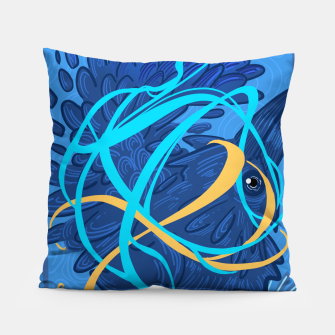 Thumbnail image of A Raven Thought Pillow, Live Heroes