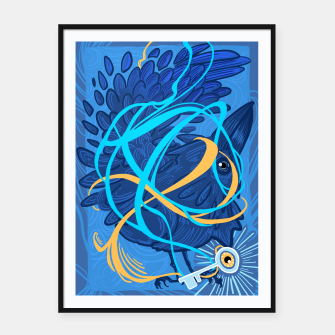 Thumbnail image of A Raven Thought Framed poster, Live Heroes