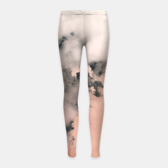 Thumbnail image of Pink Fluffy Clouds Girl's leggings, Live Heroes