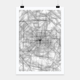 Thumbnail image of psychedelic drawing and sketching abstract pattern in black and white Poster, Live Heroes