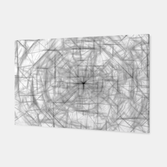 Thumbnail image of psychedelic drawing and sketching abstract pattern in black and white Canvas, Live Heroes
