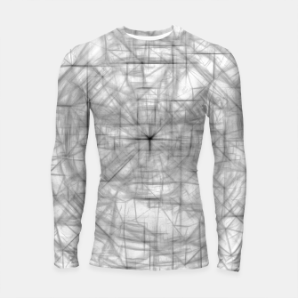 Thumbnail image of psychedelic drawing and sketching abstract pattern in black and white Longsleeve rashguard , Live Heroes