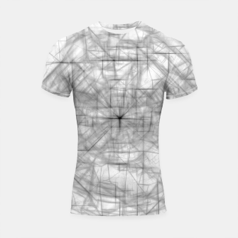 Thumbnail image of psychedelic drawing and sketching abstract pattern in black and white Shortsleeve rashguard, Live Heroes
